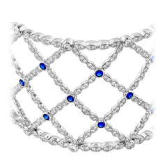 Lorelei Lattice Dia & Sapphire Bangle