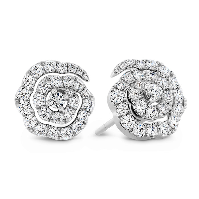 Lorelei Diamond Floral Earrings - Small