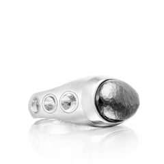 Monterey Roadster Hammered Silver Vented Ring # MR 10840