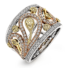 Simon G Vintage Ring - #MR1426-B - Paisley Collection