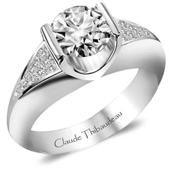 Claude Thibaudeau Handmade Ring Style Number: #PLT-3271-MP.