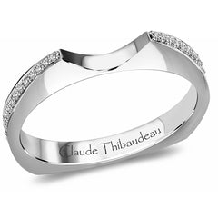 Claude Thibaudeau Handmade Wedding Band Style Number: #PLT-3311-J-MP.
