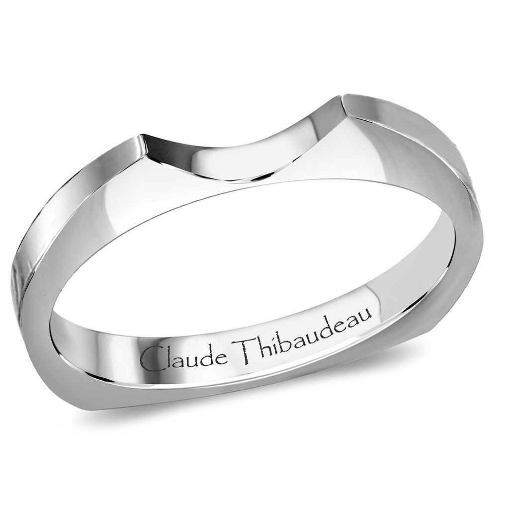Claude Thibaudeau Handmade Wedding Band Style Number: #PLT-3311-J.