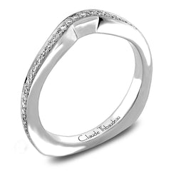 Claude Thibaudeau Handmade Wedding Band Style Number: #PLT-3842-J-MP.