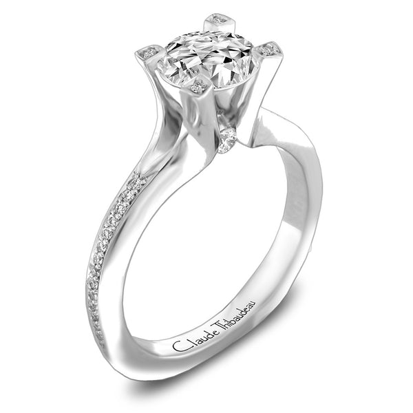 Claude Thibaudeau Handmade Ring Style Number: #PLT-3842-MP.