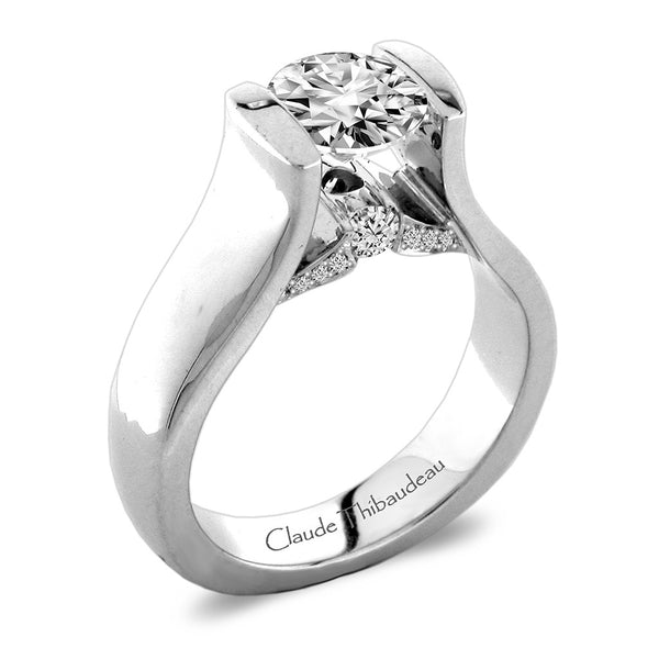 Claude Thibaudeau Handmade Ring Style Number: #PLT-3924-MP.