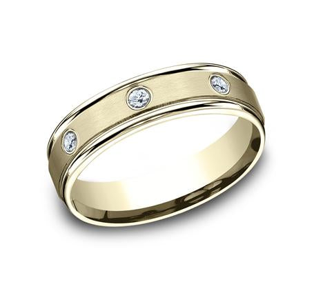 Benchmark Rose Gold 6mm Diamond Ring SKU RECF516140R