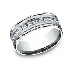 Benchmark Platinum 8mm Diamond Ring SKU RECF518516PT