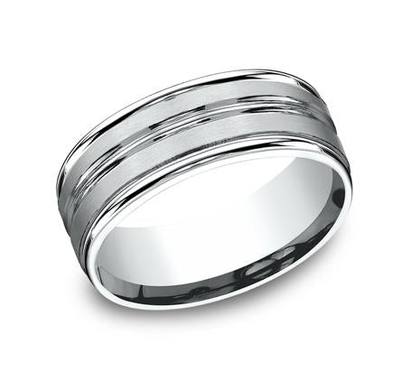 Benchmark Platinum 8mm Ring SKU RECF58180PT