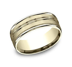 Benchmark Yellow Gold 8mm Ring SKU RECF58180Y
