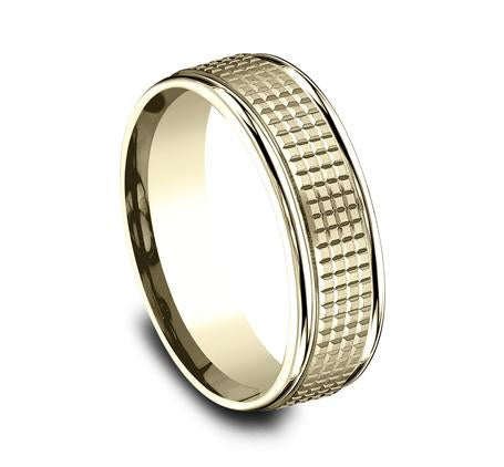 Benchmark Yellow Gold 7mm Ring SKU RECF67471Y