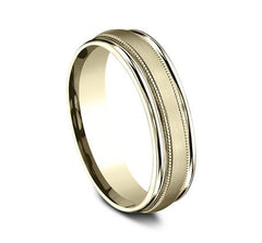 Benchmark Yellow Gold 6mm Ring SKU RECF7601SY