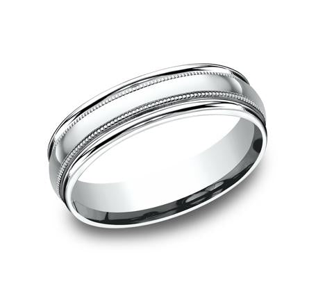 Benchmark White Gold 6mm Ring SKU RECF7601W