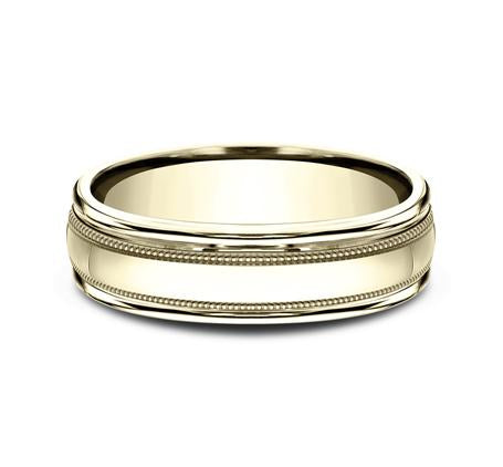 Benchmark Yellow Gold 6mm Ring SKU RECF7601Y