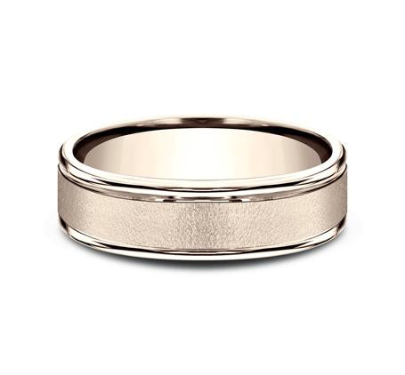 Benchmark Rose Gold 6mm Ring SKU RECF7602R