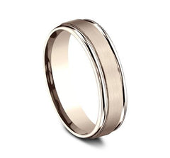 Benchmark Rose Gold 6mm Ring SKU RECF7602SR