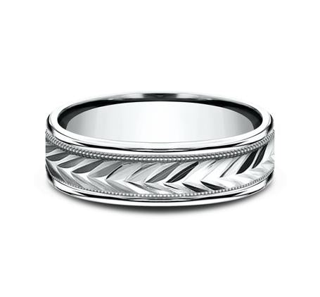 Benchmark White Gold 6mm Ring SKU RECF7603W
