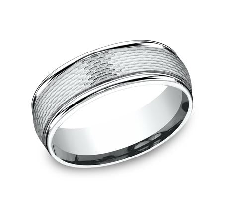 Benchmark White Gold 7.5mm Ring SKU RECF87547W
