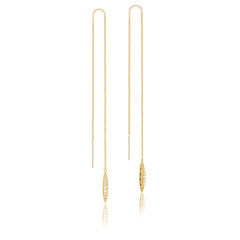 Ivy Lane Pave Surfboard Thread Earring Style #SE224