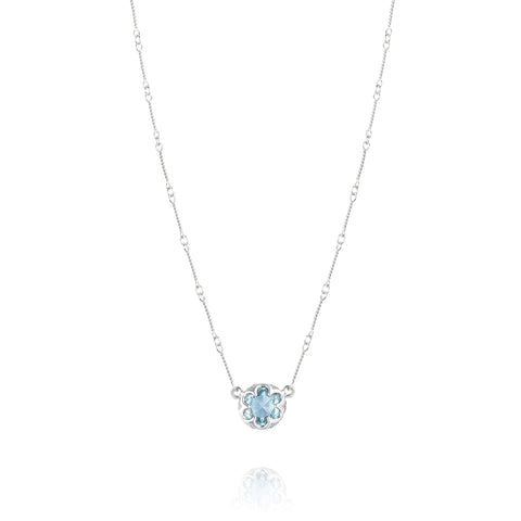 Station Link Necklace featuring Sky Blue Topaz Sonoma Skies Style # SN20002