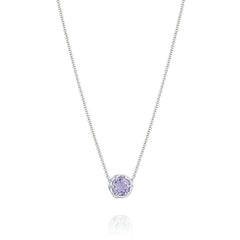 Lilac Blossoms Crescent Station Necklace Style # SN20413