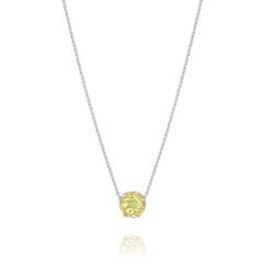 Color Medley Crescent Station Necklace featuring Lemon Quartz # SN204Y07