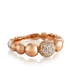Sonoma Mist Pave Cascading Dew Drop Ring Style #SR211P