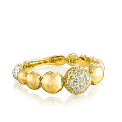 Sonoma Mist Pave Cascading Dew Drop Ring Style #SR211Y