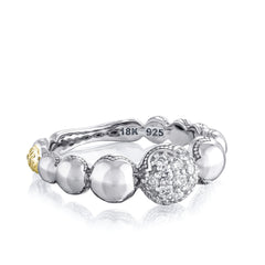 Sonoma Mist Pave Cascading Dew Drop Ring Style #SR211
