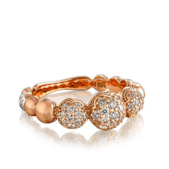 Sonoma Mist Bold Pave Cascading Dew Drop Ring Style #SR212P