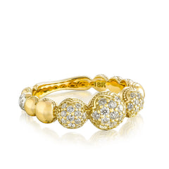 Sonoma Mist Bold Pave Cascading Dew Drop Ring Style #SR212