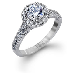 Zeghani Classic Engagement Ring - #Zr939 - Utopia Collection