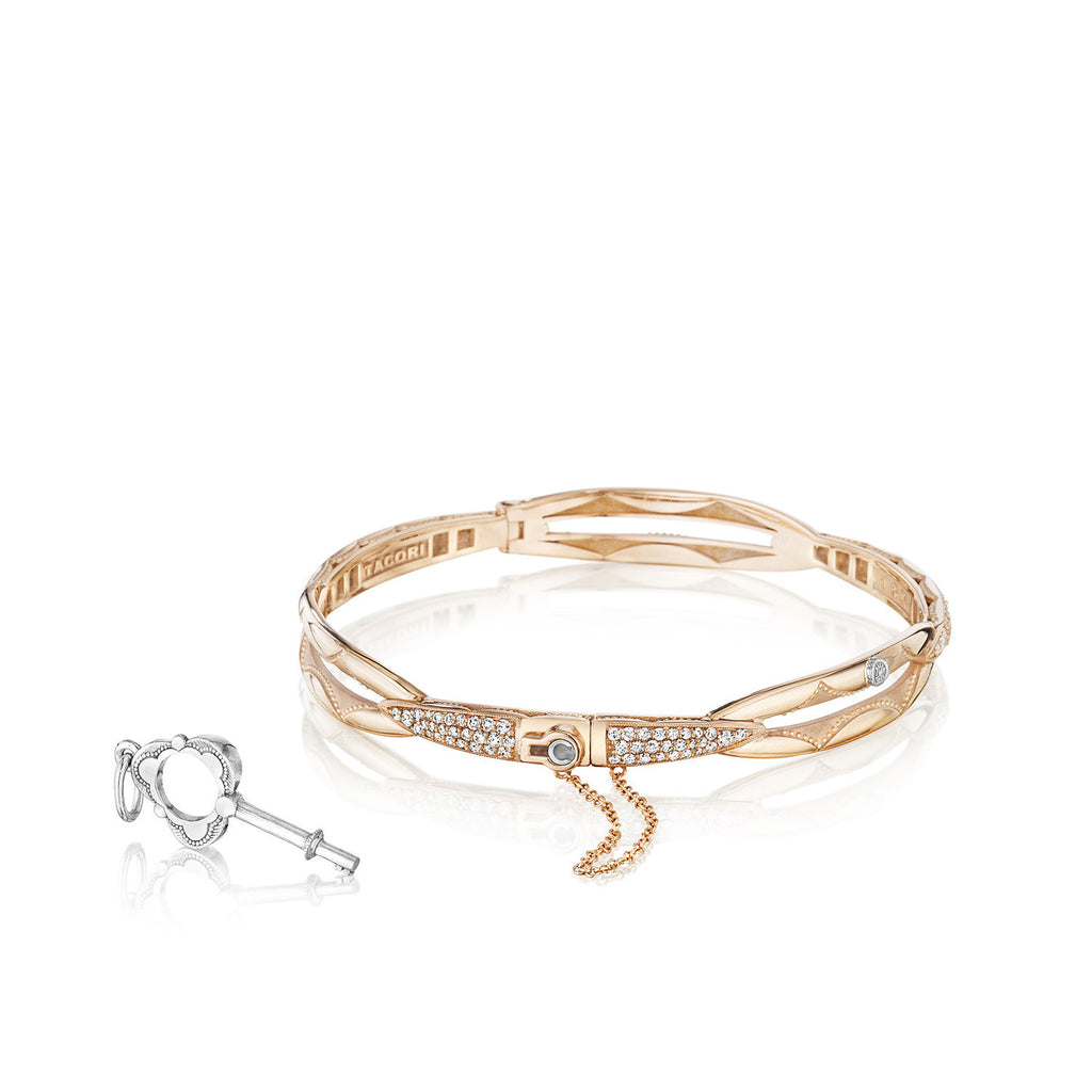 Promise Bracelet #SB188P Rose Gold w/ Diamonds