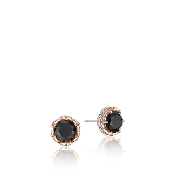 Classic Rock Crescent Crown Studs featuring Black Onyx # SE105P19