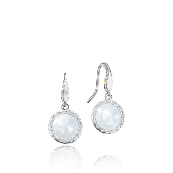 Classic Rock Simply Gem Drop Earrings featuring Chalcedony # SE15503