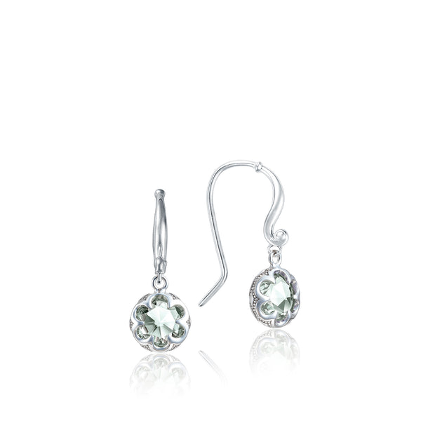 Sonoma Skies Petite Crescent Drop Earrings featuring Prasiolite # SE21012
