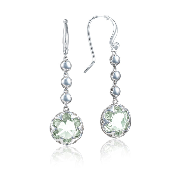 Sonoma Skies Cascading Drop Earrings featuring Prasiolite # SE21312