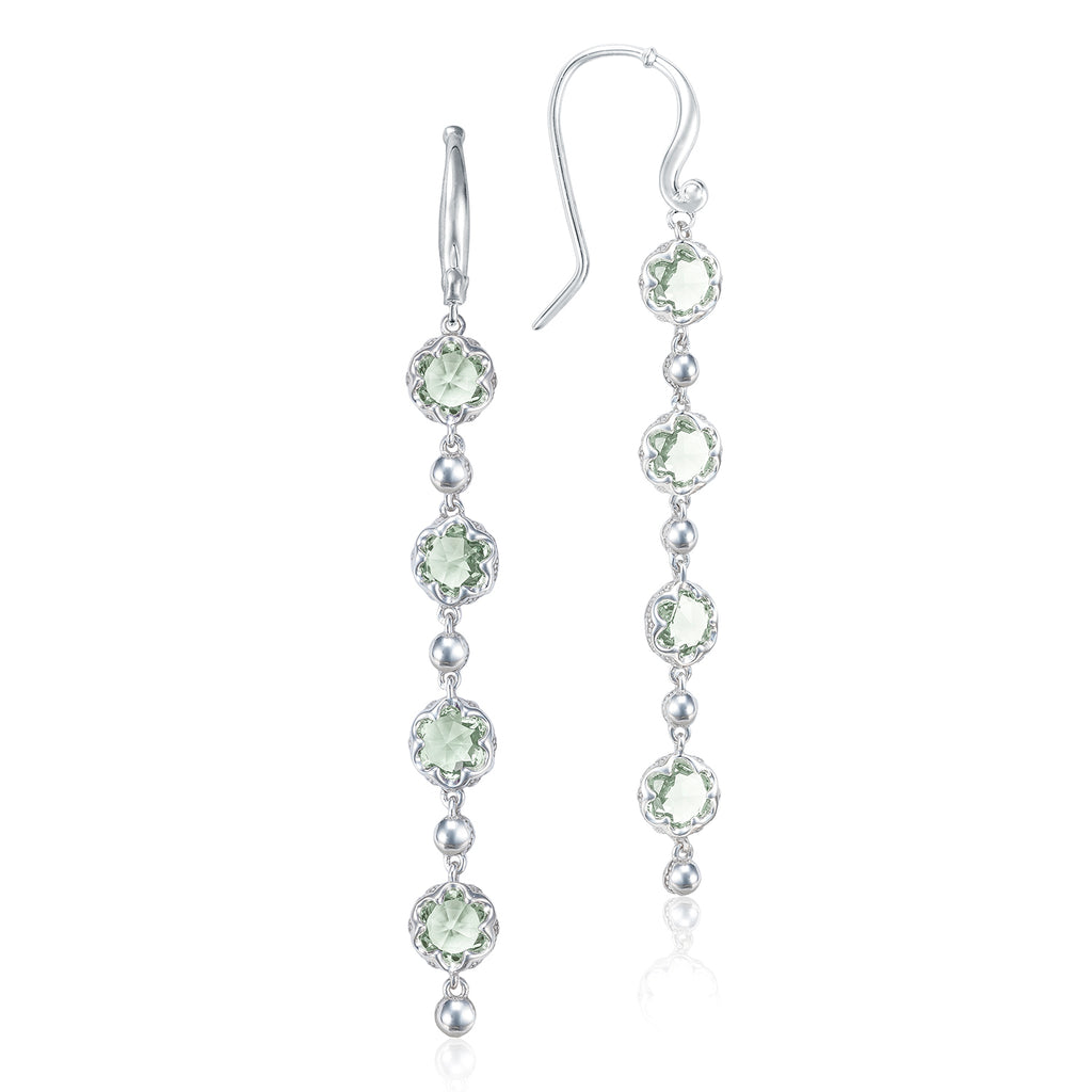 Sonoma Skies Rain Drop Earrings featuring Prasiolite # SE21412