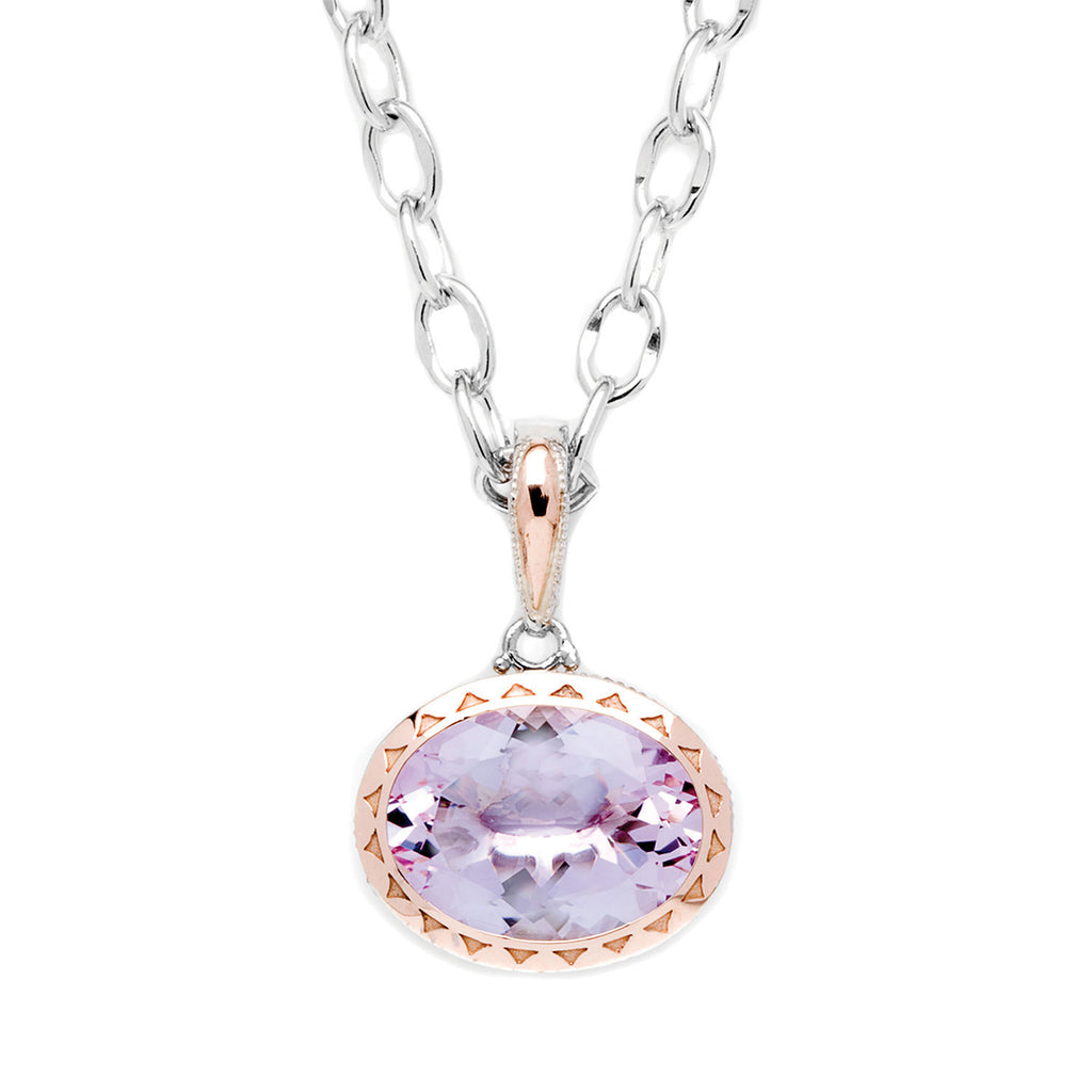 Color Medley East West Rose Amethyst Pendant # SN101P13