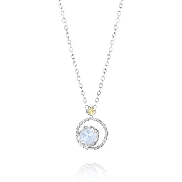 Classic Rock Bold Bloom Necklace featuring Chalcedony # SN14103