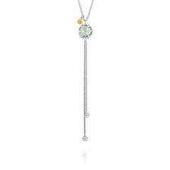 Sonoma Skies Lariat Necklace featuring Prasiolite # SN20212
