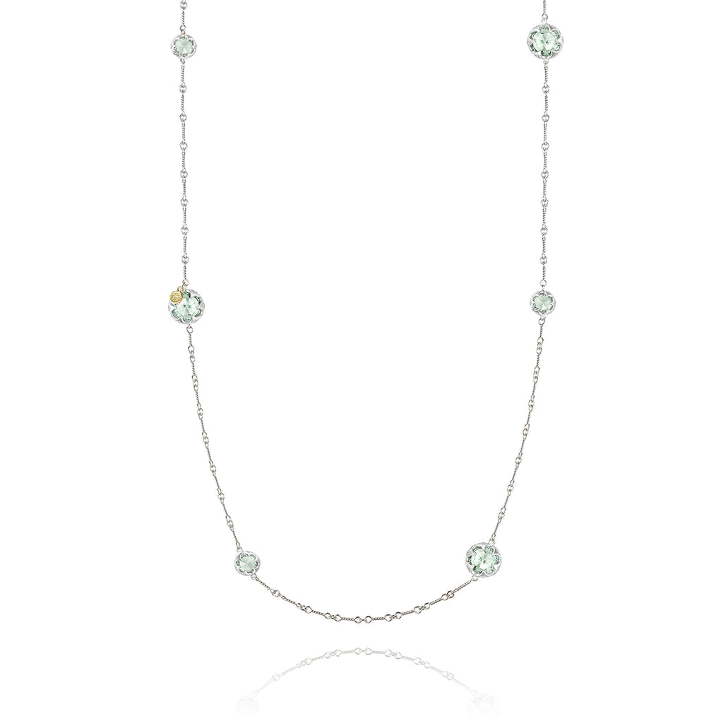 Sonoma Skies Gem Drops Necklace featuring Prasiolite # SN20312
