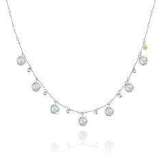 Sonoma Skies Multi-Gem Drop Necklace featuring Prasiolite # SN20512