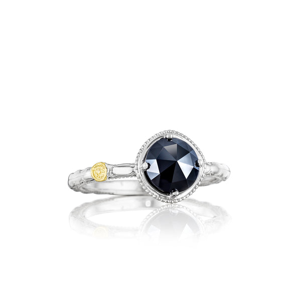 Classic Rock Simply Gem Ring featuring Black Onyx # SR13419