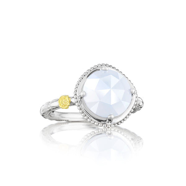 Classic Rock Bold Simply Gem Ring featuring Chalcedony # SR13503