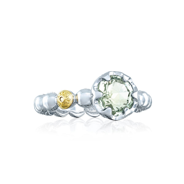 Sonoma Skies Beaded Bezel Ring featuring Prasiolite Style # SR19812