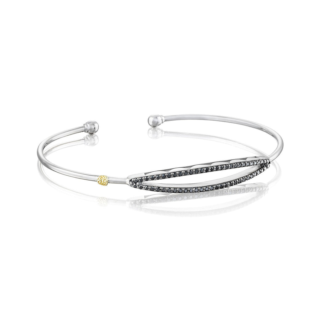 Ivy Lane Open Surfboard Bangle featuring Black Diamonds Style #SB20644