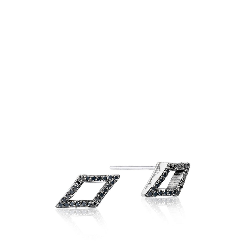 Ivy Lane Pave Chevron Stud featuring Black Diamonds Style #SE22744