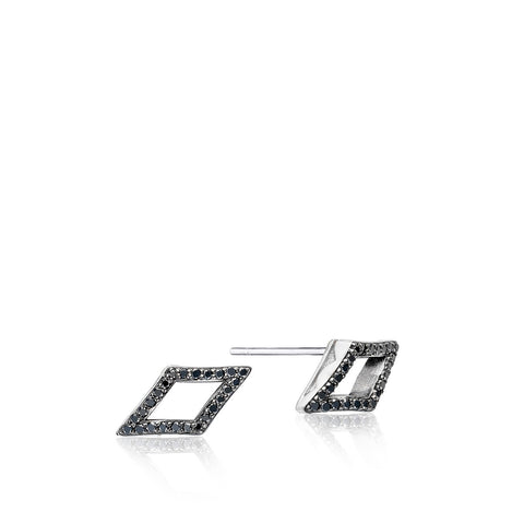 Ivy Lane Pavé Chevron Stud featuring Black Diamonds Style #SE22744