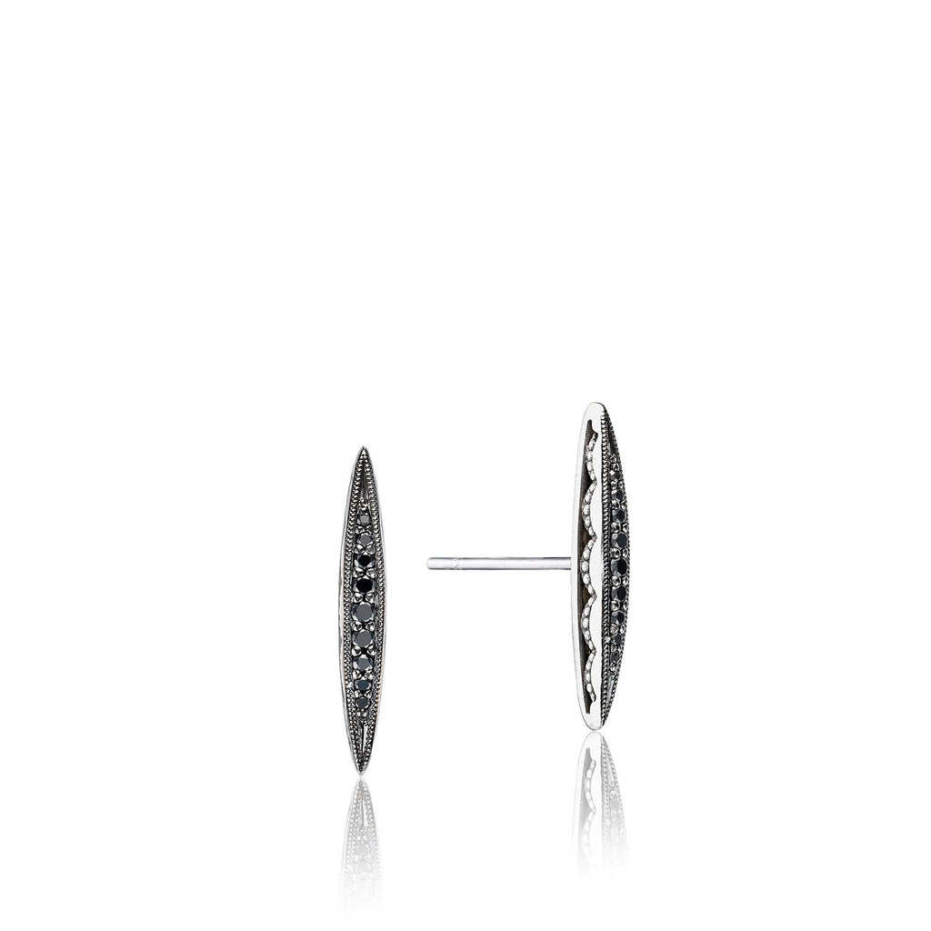 Ivy Lane Bold Pave Surfboard Studs featuring Black Diamonds Style #SE22944